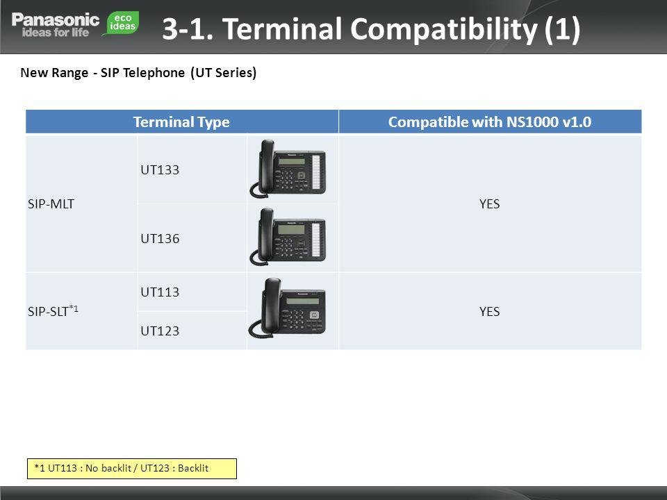 3-1. Terminal Compatibility (1)