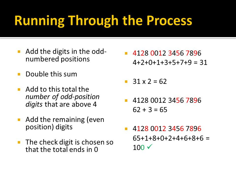 Running Through the Process