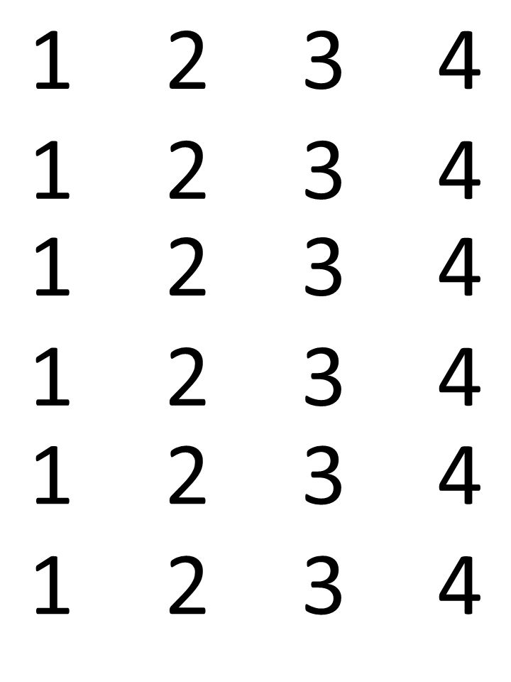 1 2 3 4 1 2 3 4 1 2 3 4 1 2 3 4 1 2 3 4 1 2 3 4