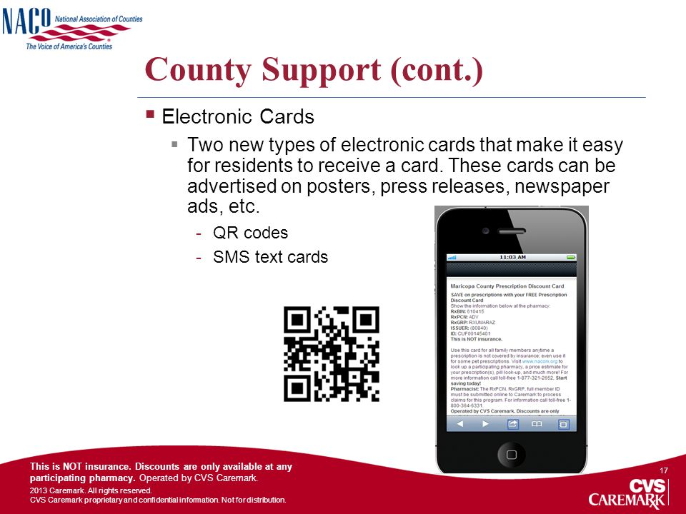 County Support (cont.) Electronic Cards