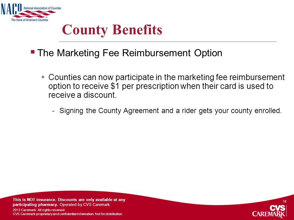 County Benefits The Marketing Fee Reimbursement Option