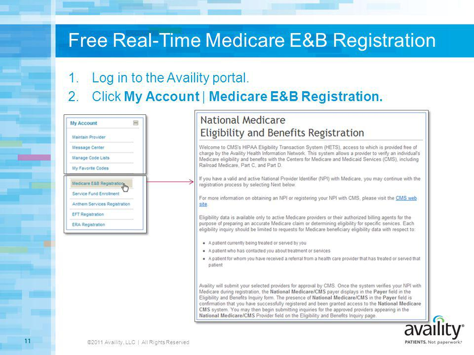 Free Real-Time Medicare E&B Registration