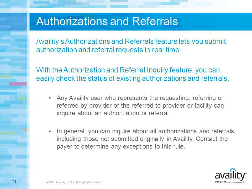 Authorizations and Referrals