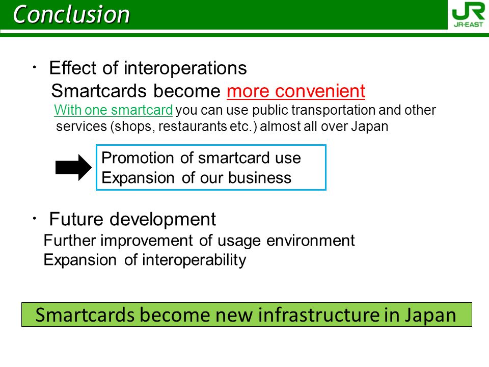 Smartcards become new infrastructure in Japan