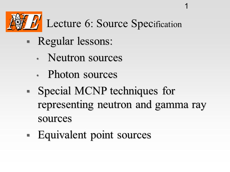 Lecture 6: Source Specification