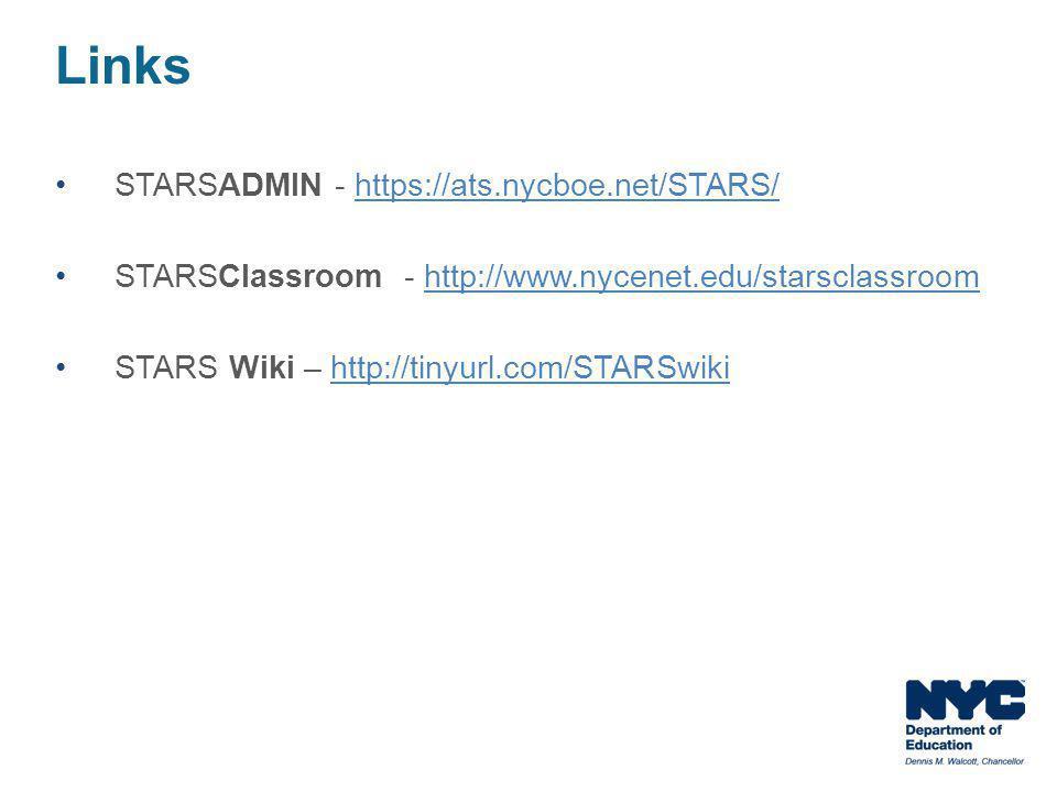 Links STARSADMIN - https://ats.nycboe.net/STARS/