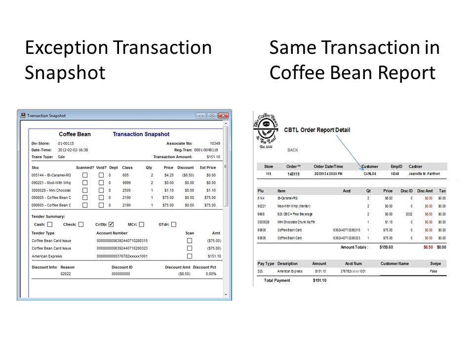 Exception Transaction Snapshot