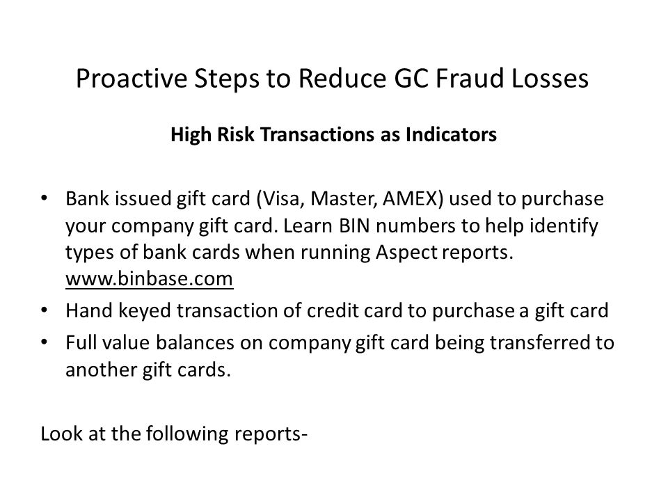 Proactive Steps to Reduce GC Fraud Losses