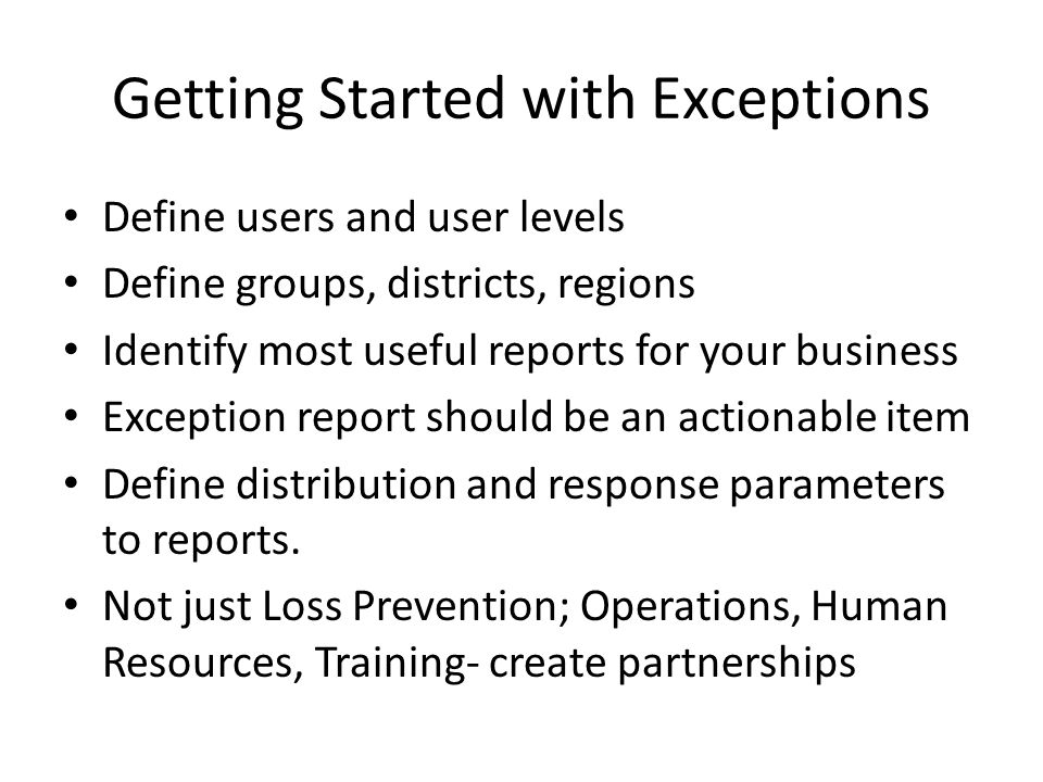 Getting Started with Exceptions
