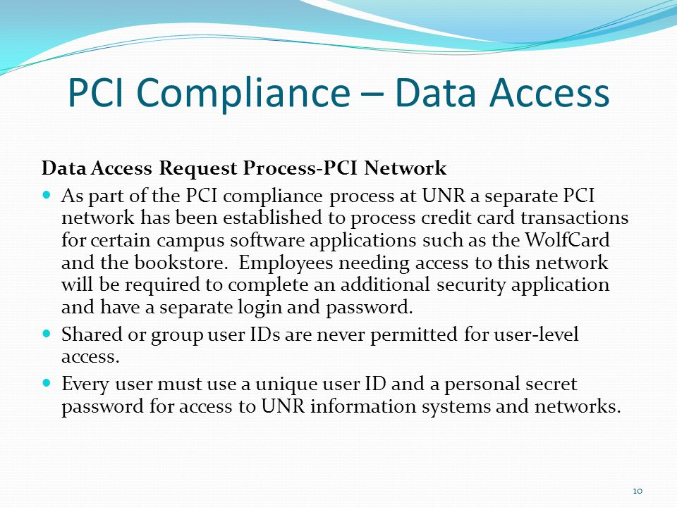 PCI Compliance – Data Access