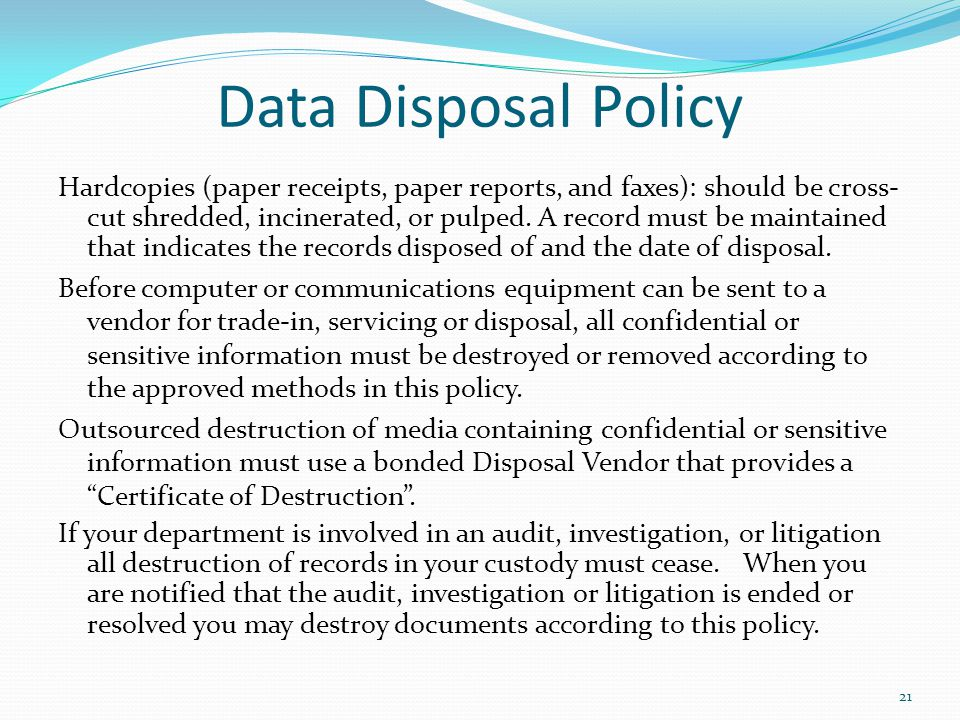Data Disposal Policy