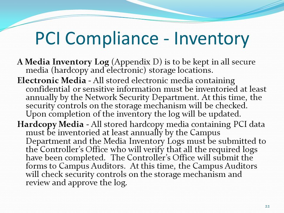 PCI Compliance - Inventory