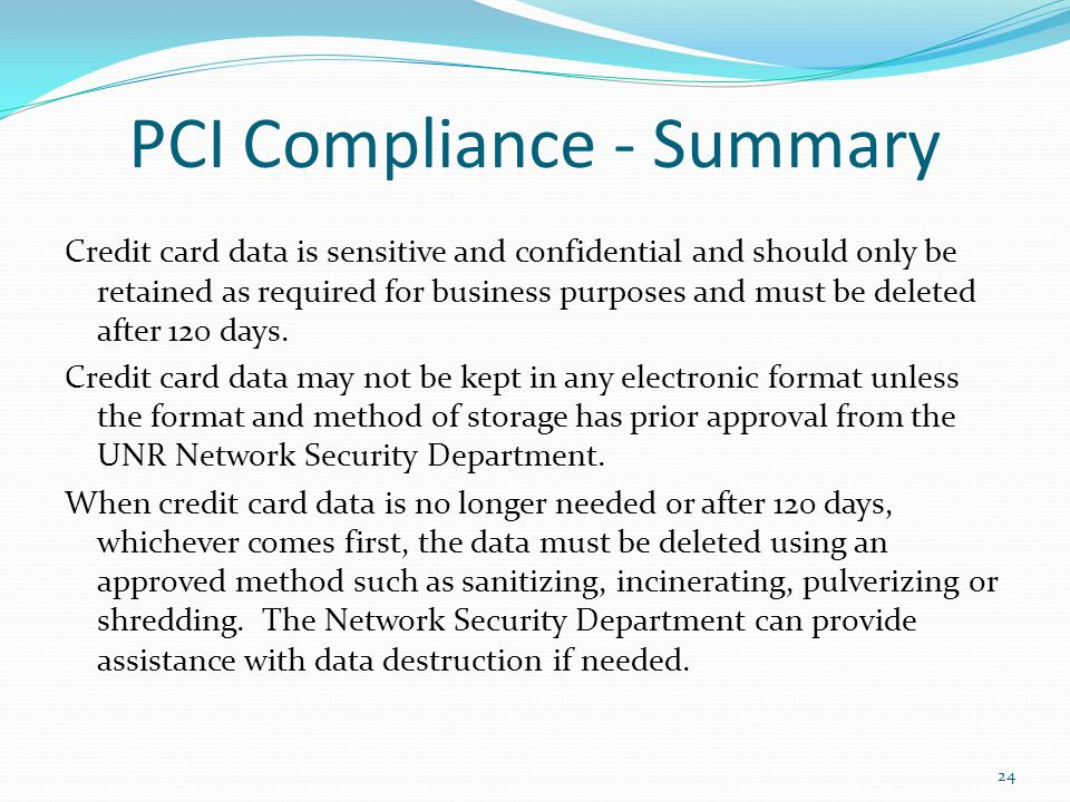 PCI Compliance - Summary