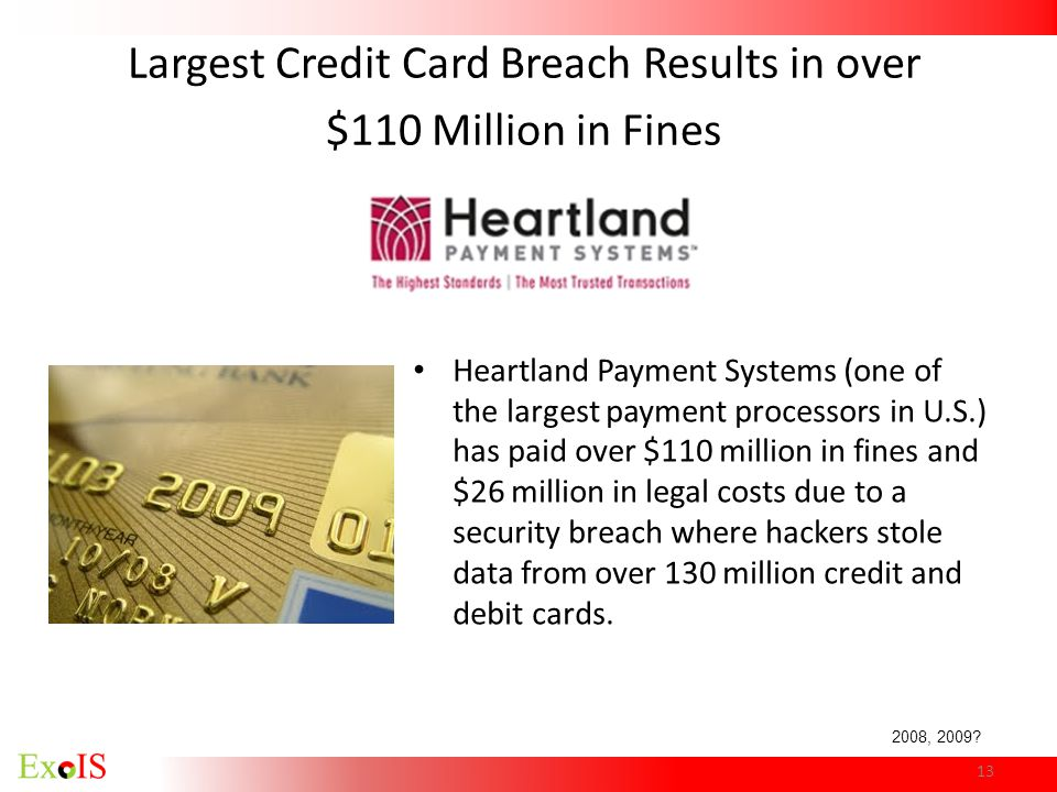 Largest Credit Card Breach Results in over $110 Million in Fines