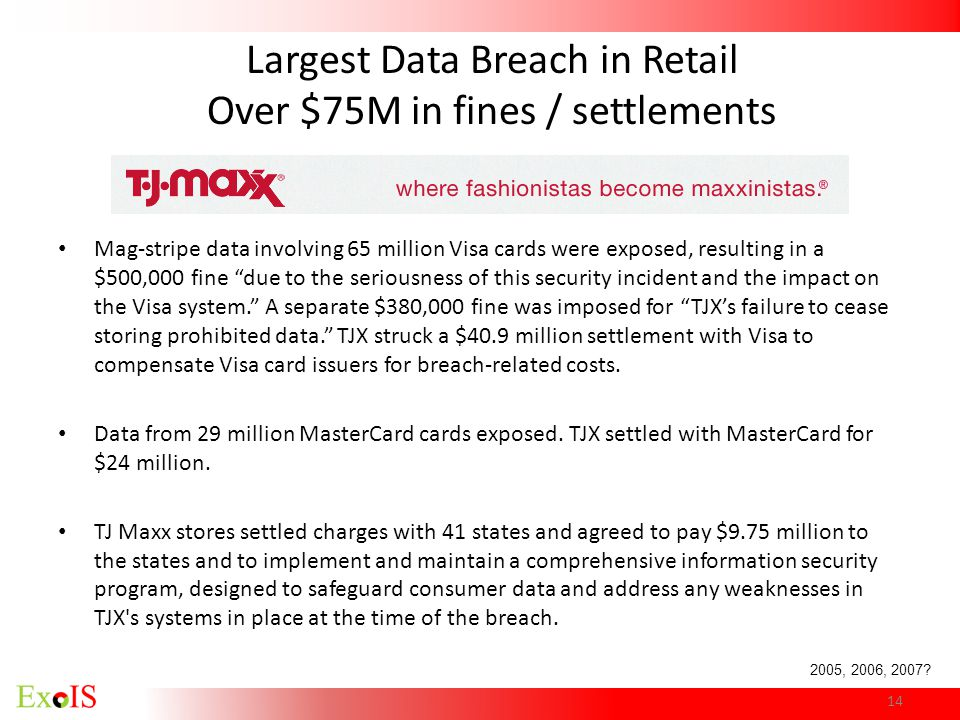 Largest Data Breach in Retail Over $75M in fines / settlements