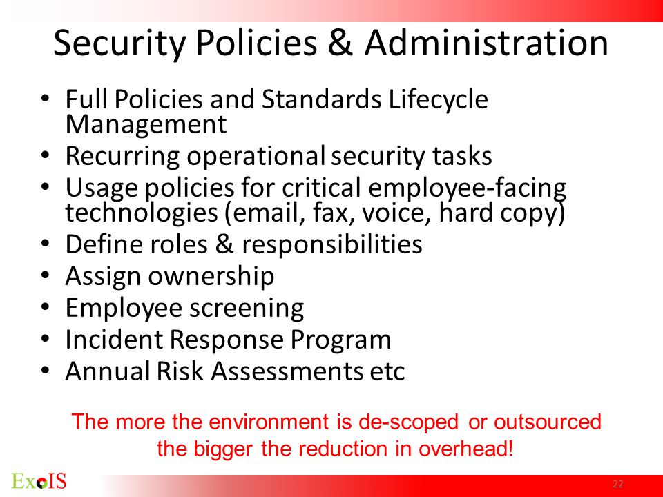 Security Policies & Administration