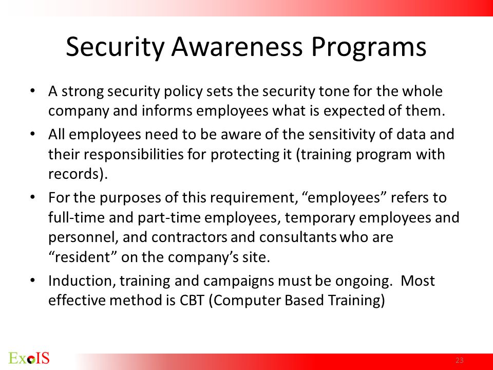Security Awareness Programs