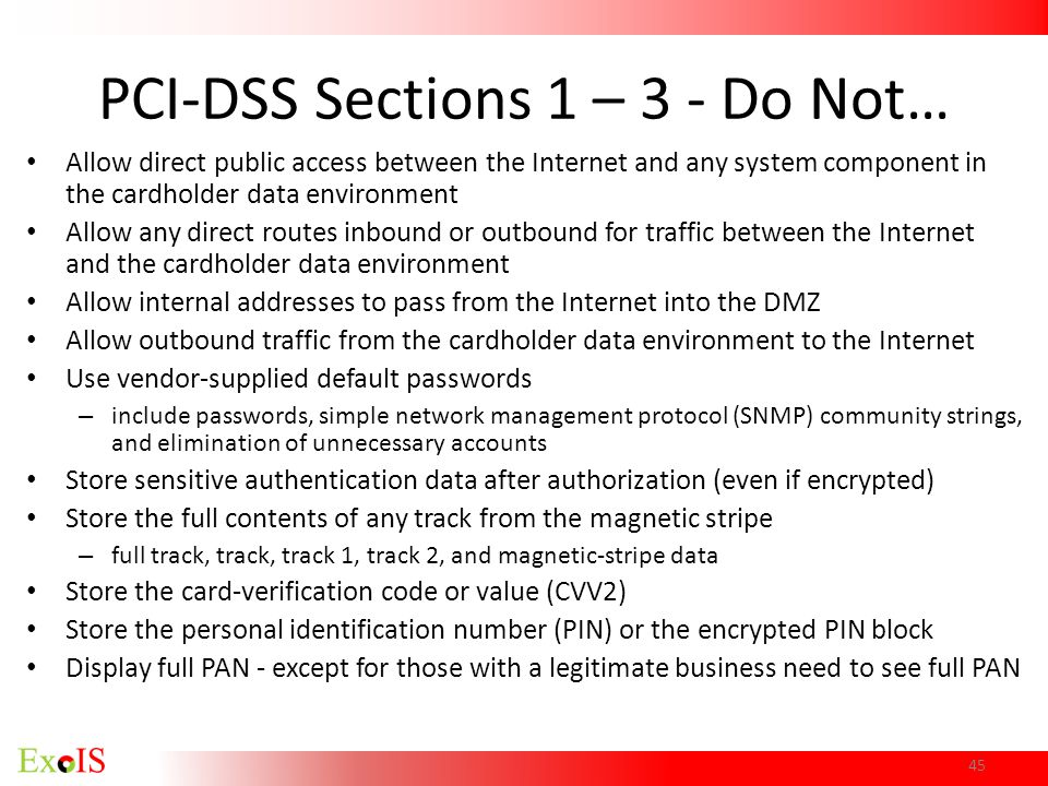 PCI-DSS Sections 1 – 3 - Do Not…
