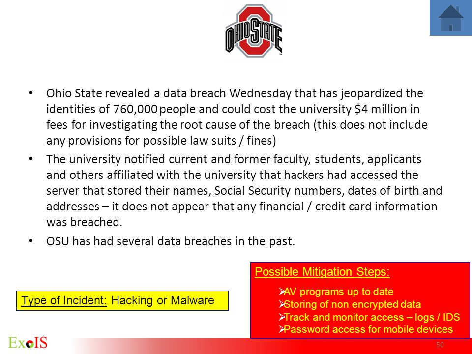 OSU has had several data breaches in the past.