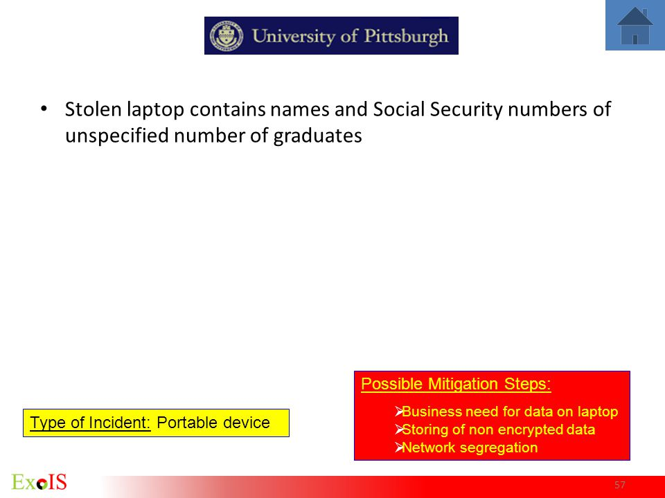 Stolen laptop contains names and Social Security numbers of unspecified number of graduates