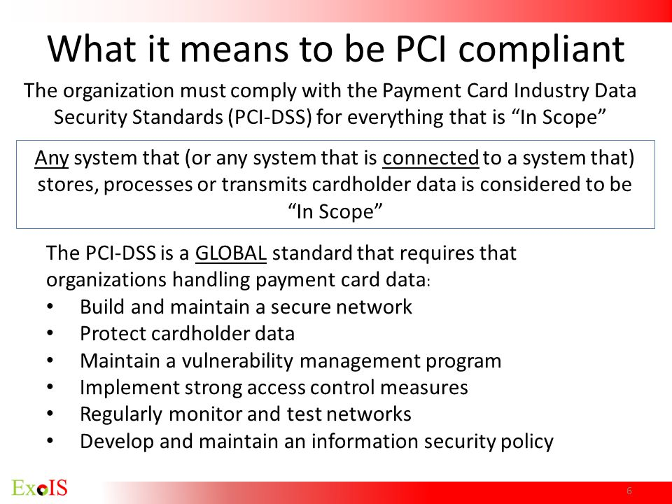What it means to be PCI compliant