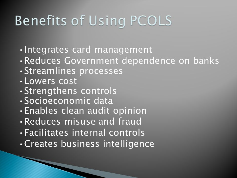 Benefits of Using PCOLS