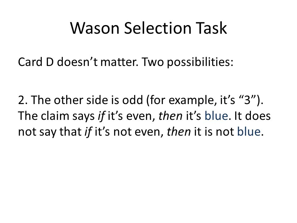 Wason Selection Task