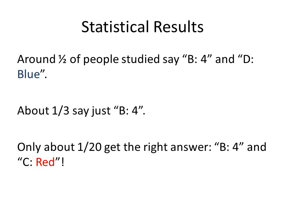 Statistical Results