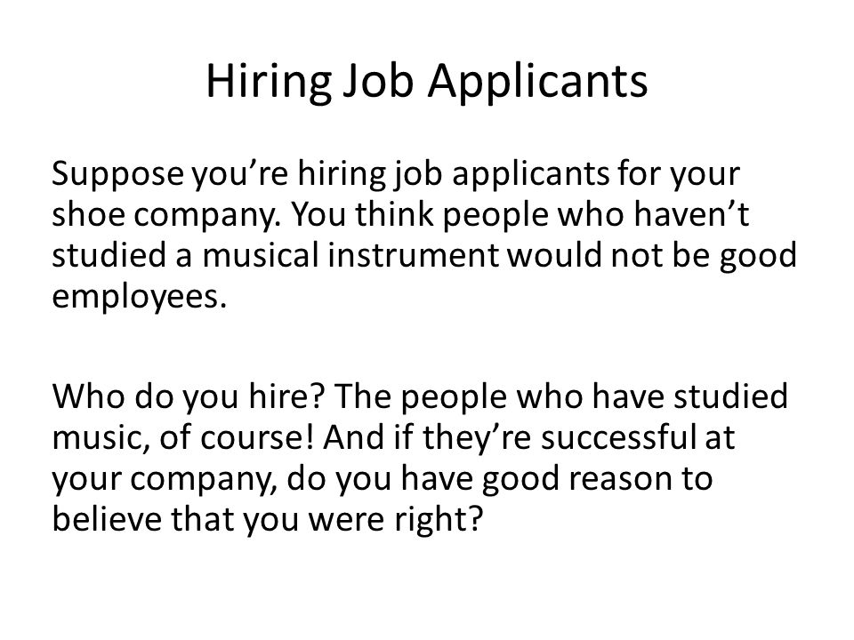Hiring Job Applicants