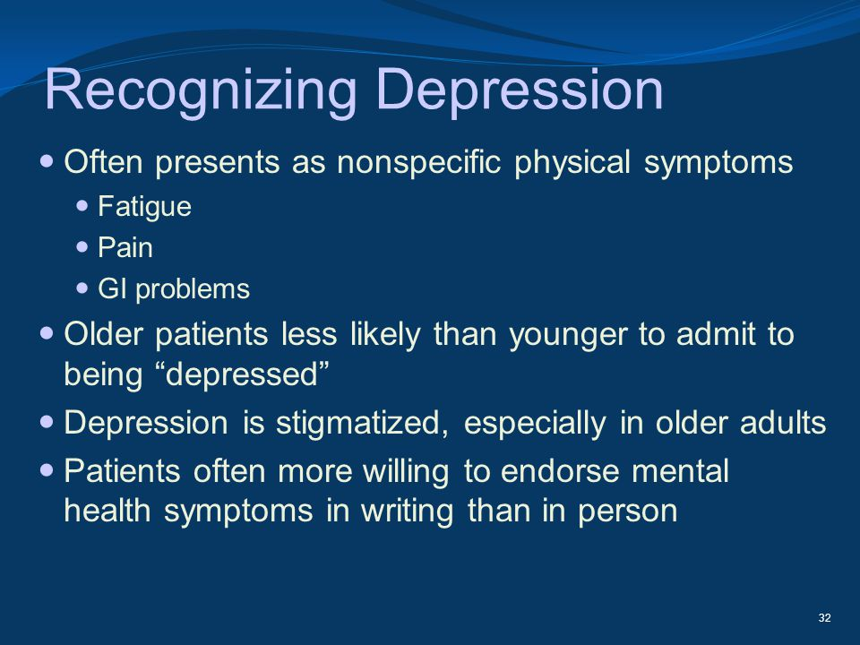 Recognizing Depression