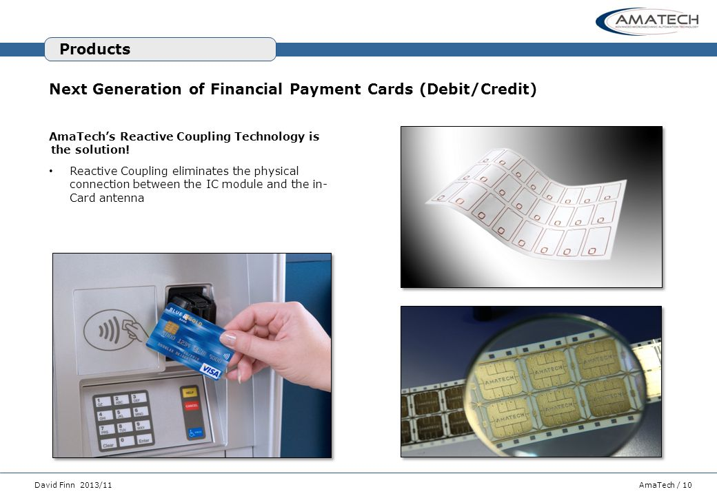 Next Generation of Financial Payment Cards (Debit/Credit)