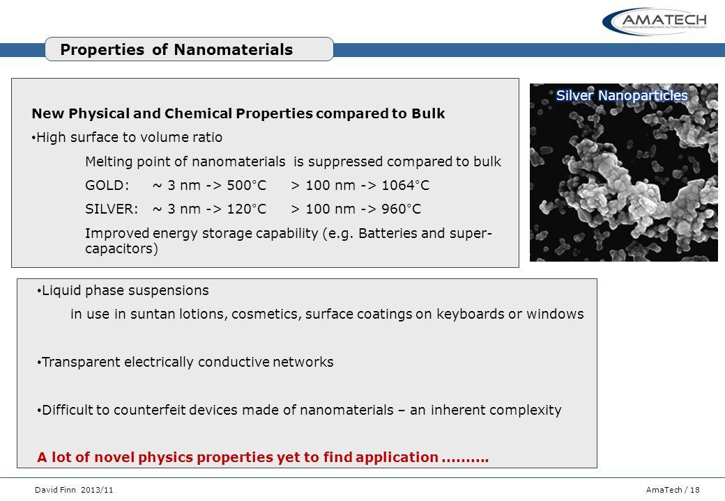 Properties of Nanomaterials