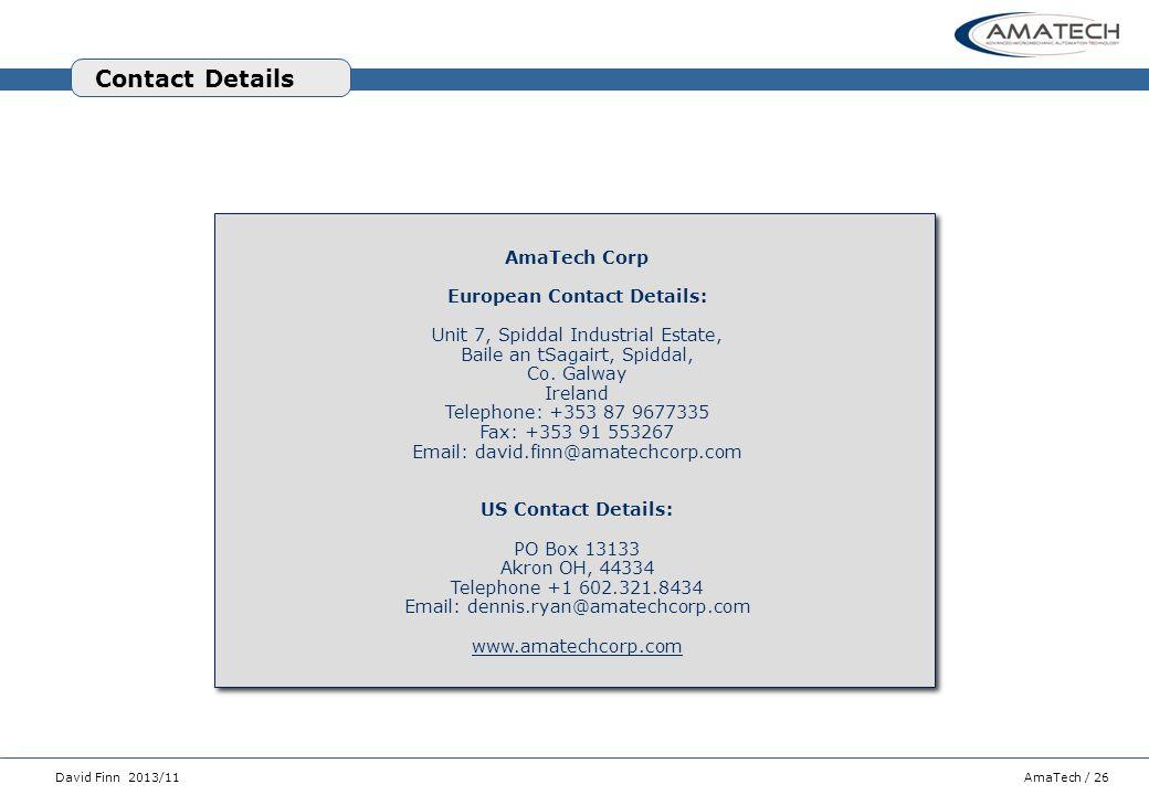 European Contact Details: