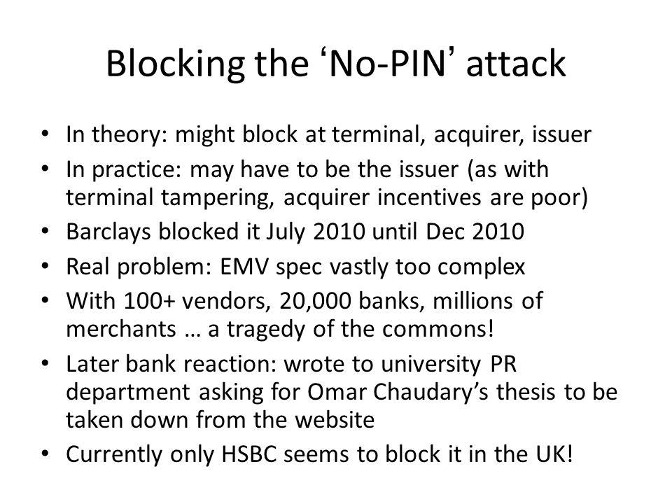 Blocking the 'No-PIN' attack