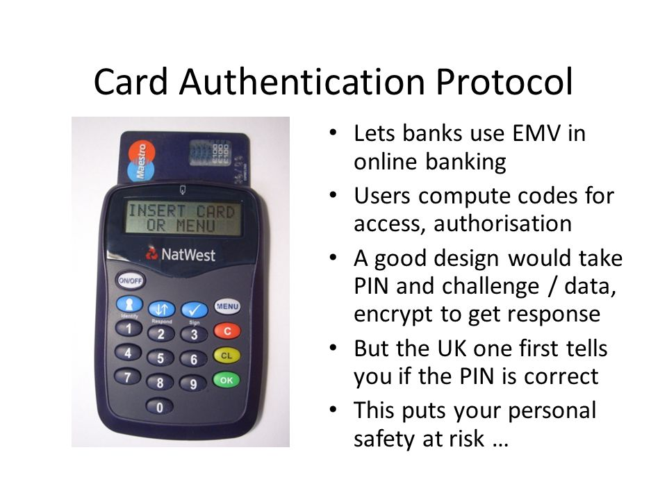 Card Authentication Protocol