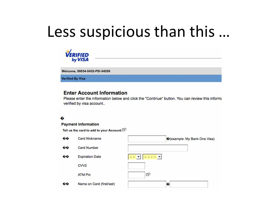 Less suspicious than this …