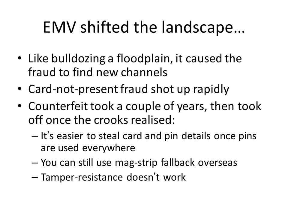 EMV shifted the landscape…