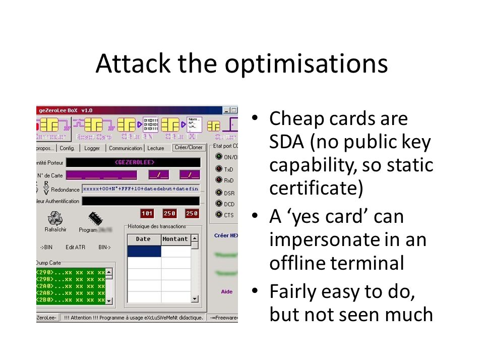 Attack the optimisations