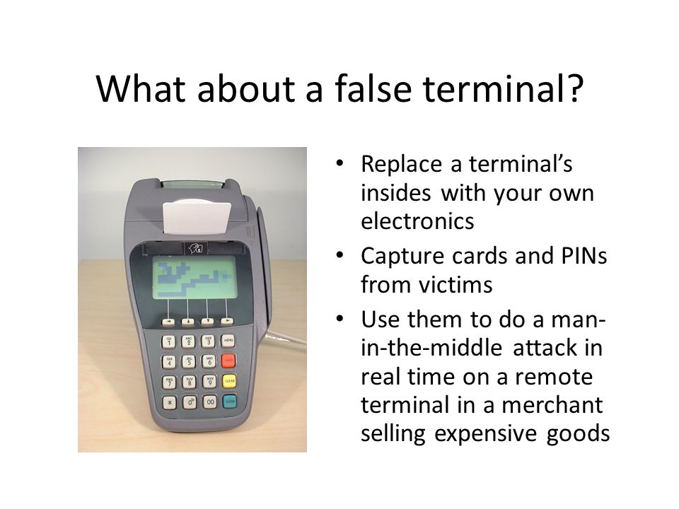 What about a false terminal