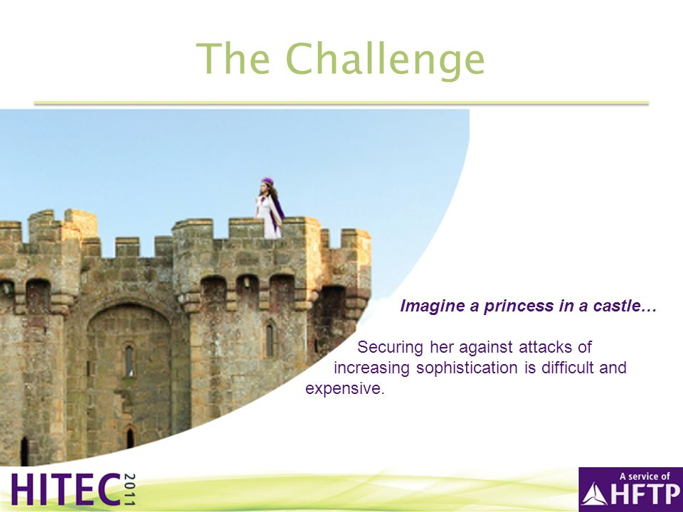 The Challenge Imagine a princess in a castle…