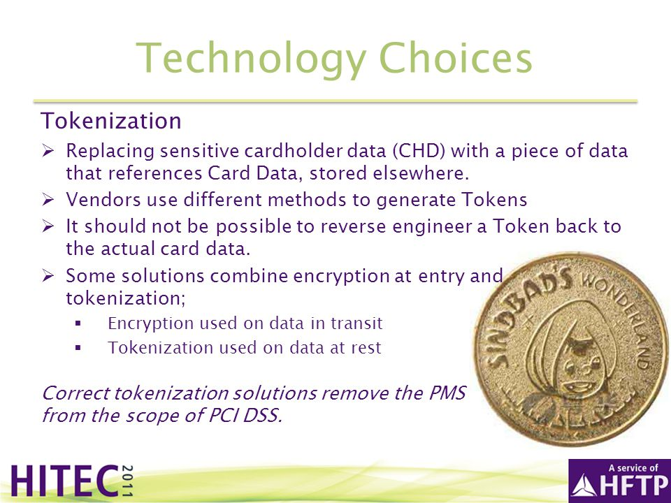 Technology Choices Tokenization