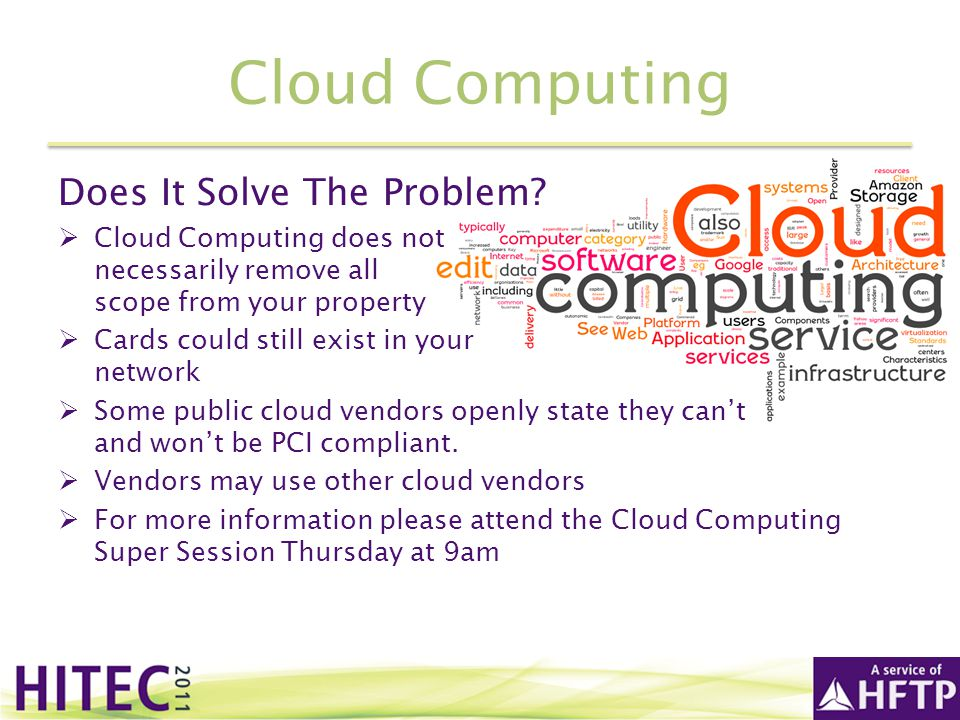 Cloud Computing Does It Solve The Problem