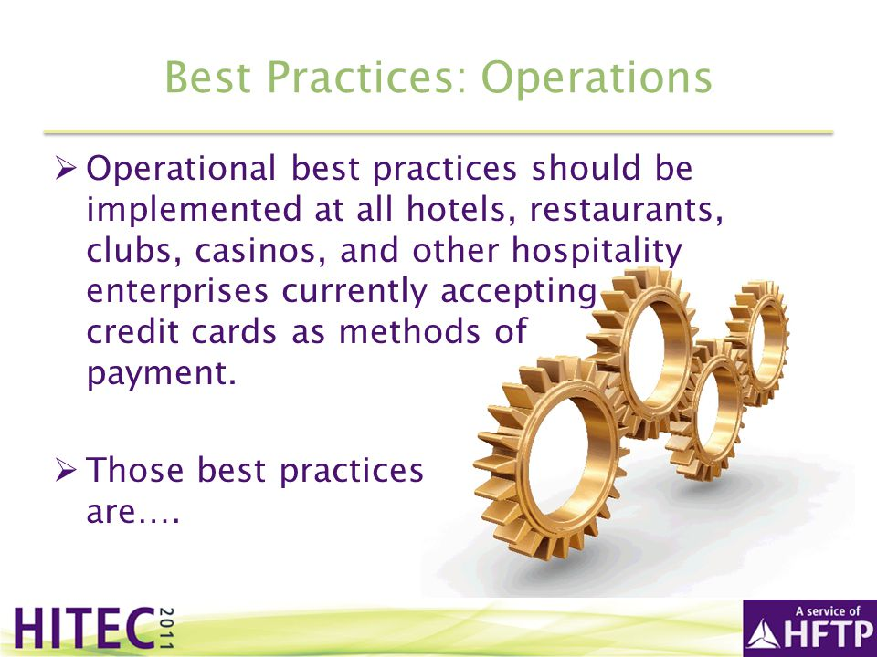 Best Practices: Operations