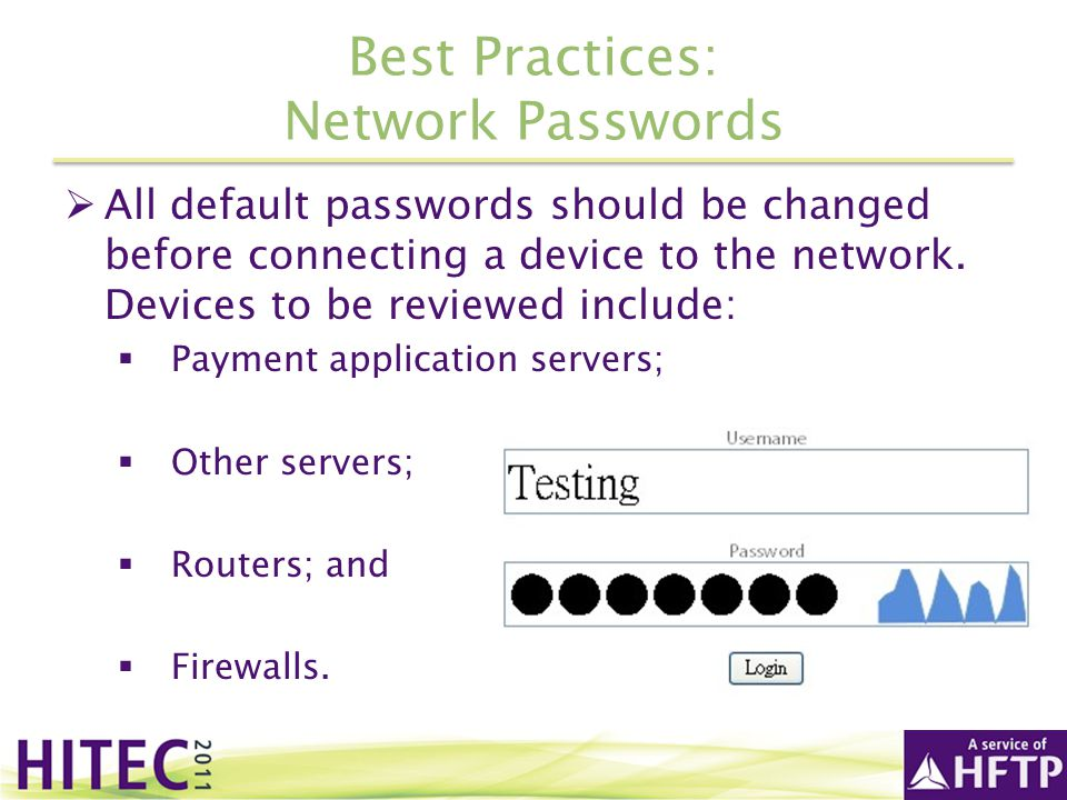 Best Practices: Network Passwords