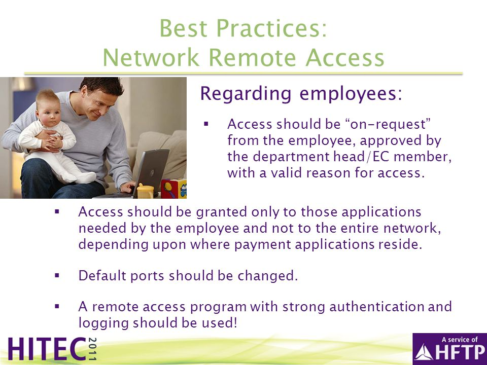 Best Practices: Network Remote Access
