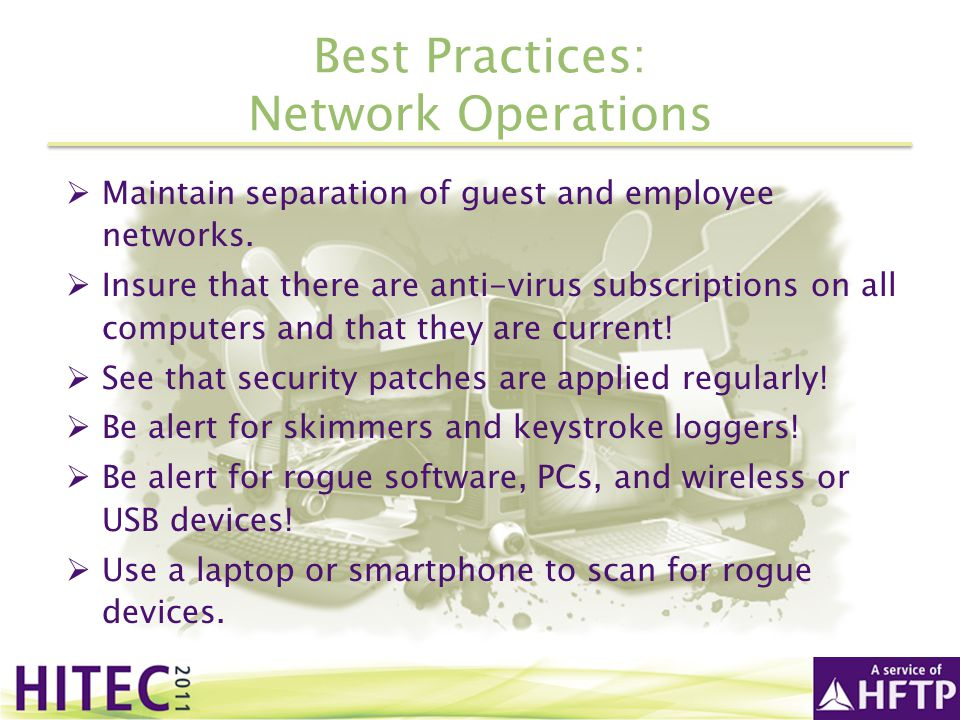 Best Practices: Network Operations