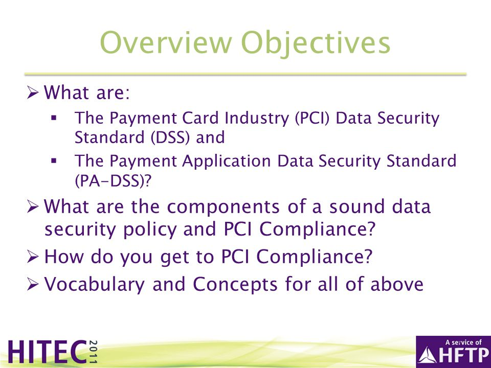 Overview Objectives What are: