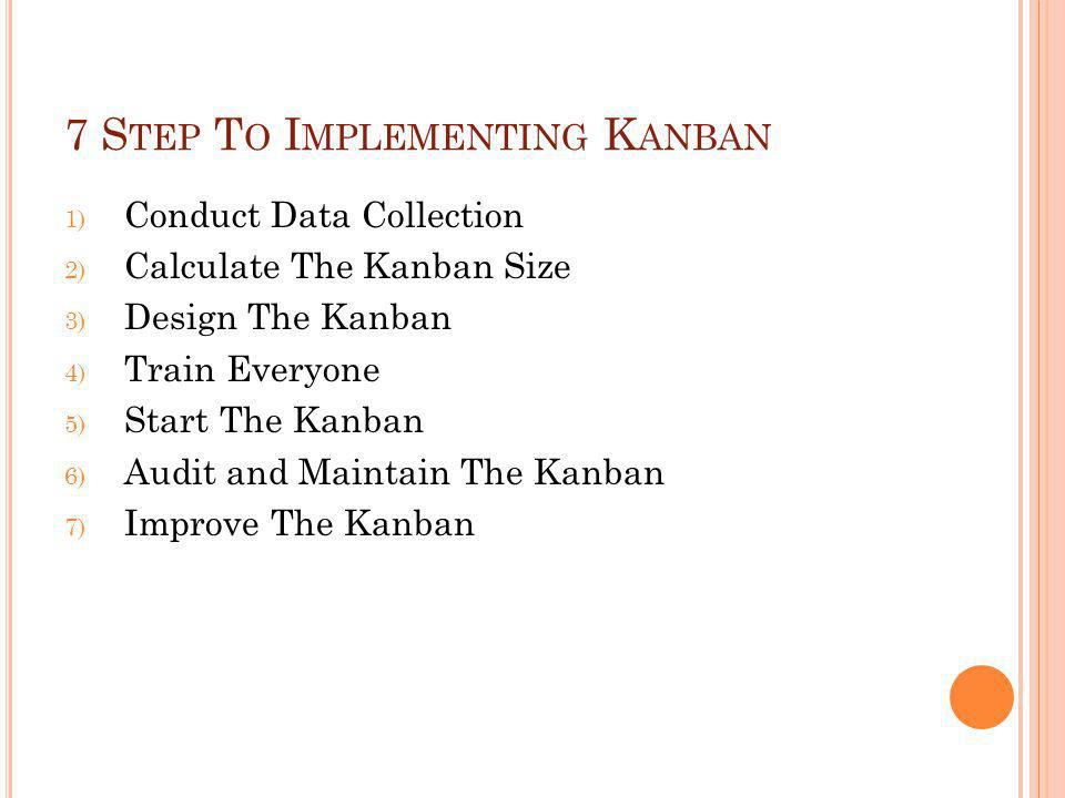 7 Step To Implementing Kanban