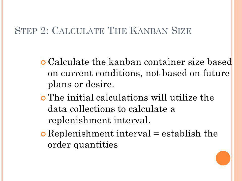 Step 2: Calculate The Kanban Size