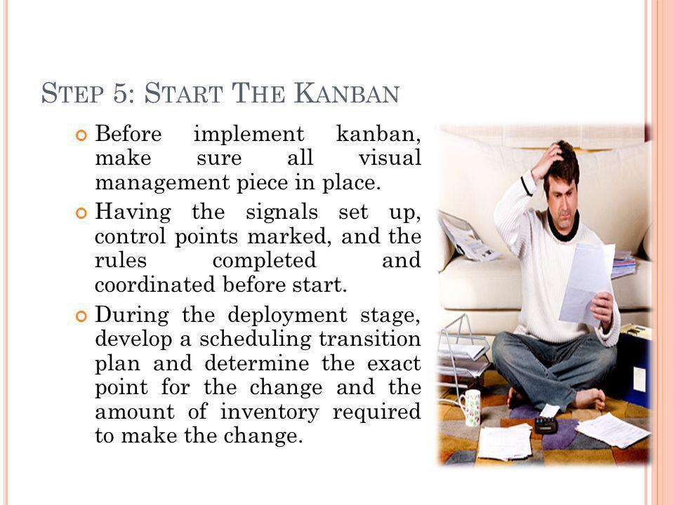 Step 5: Start The Kanban Before implement kanban, make sure all visual management piece in place.